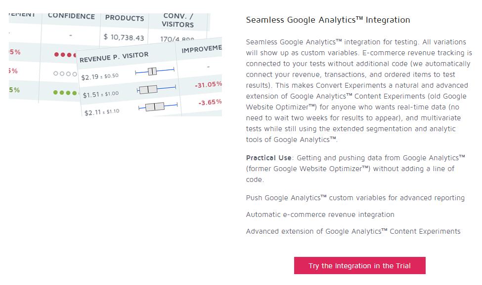 Интеграция Convert с Google Analytics