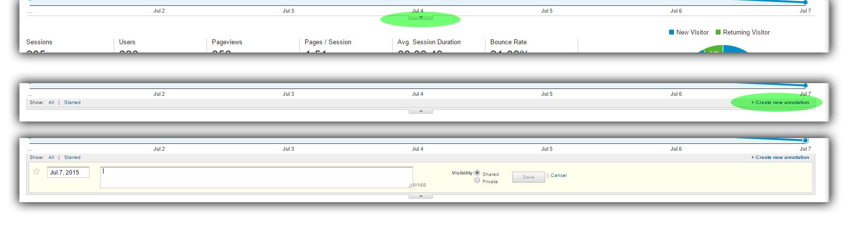 Add Annotation to Google Analytics