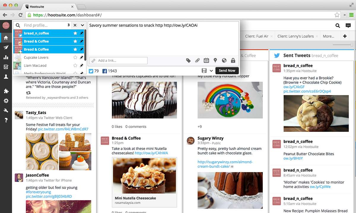 Hootsuite - create a message