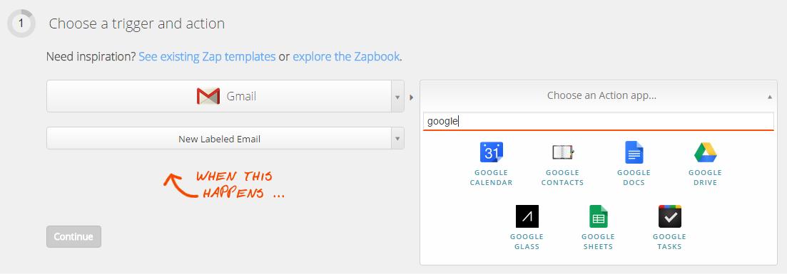 Create a Zap. Step 3